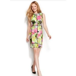 Calvin Klein multicolor floral sheath dress